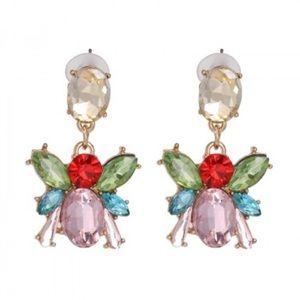 Jewelry - Crystal bee earrings.